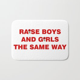 raise boys and girls Bath Mat