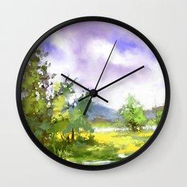 After summer storm Wall Clock