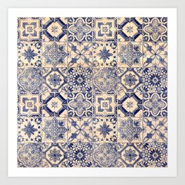 Ornamental pattern Art Print