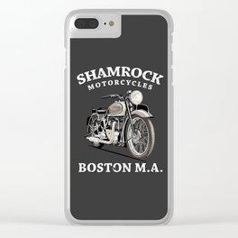 Shamrock Motorcycles Boston Clear iPhone Case