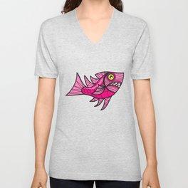 Escher Fish Pattern VIII Unisex V-Neck