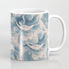 Blush Blue Peony Flower Bouquet #1 #floral #decor #art #society6 Coffee Mug