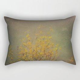 Vintage flowering bloom Rectangular Pillow