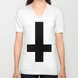 Black Cross Unisex V-Neck