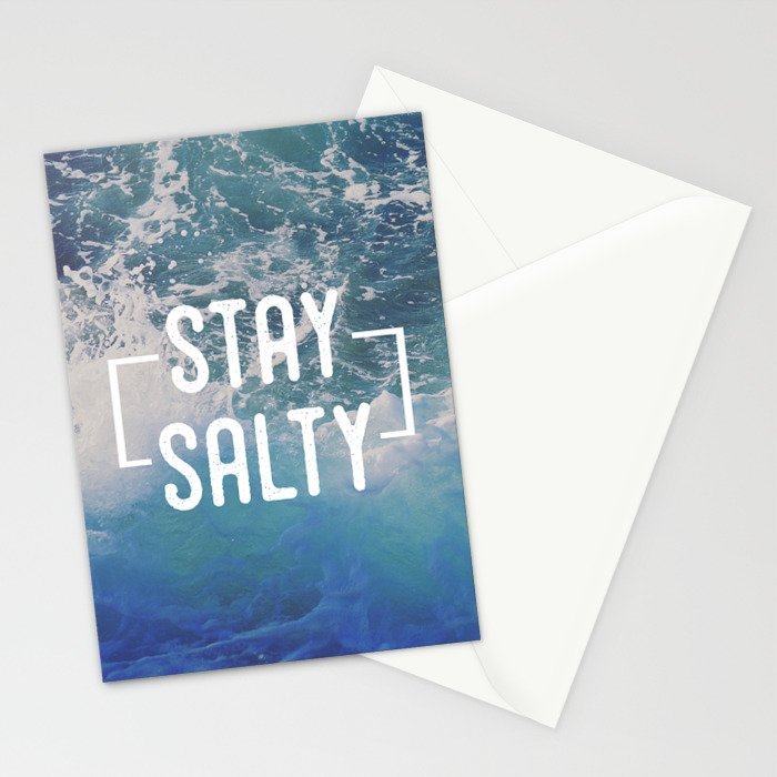 Stay Salty Stationery Cards