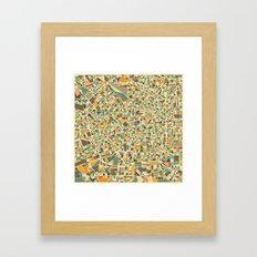 Milan Map Framed Art Print