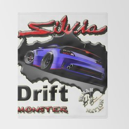 Drift Sport Car Throw Blanket