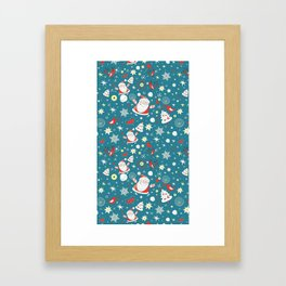Christmas Pattern Framed Art Print