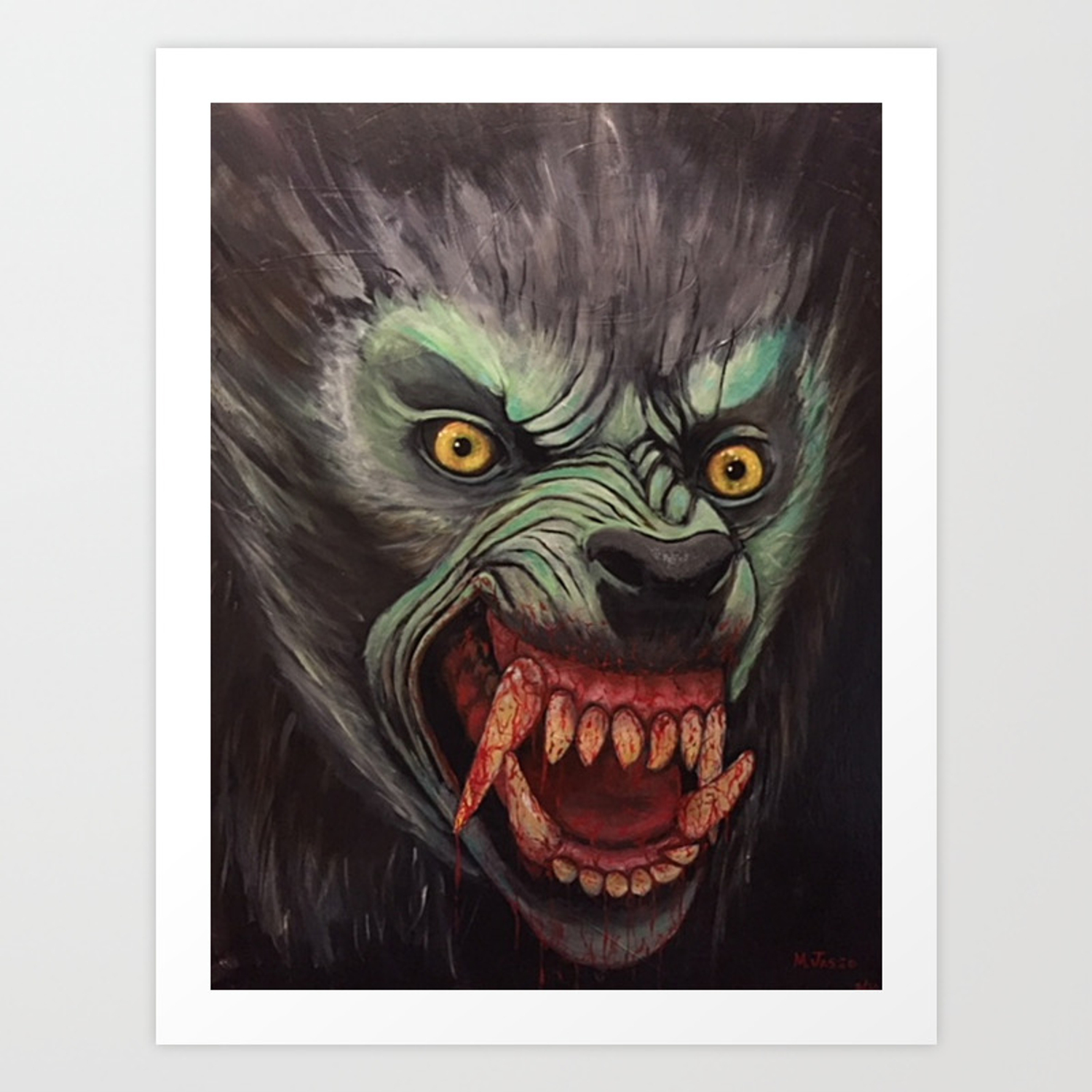 American Werewolf In London Art Print By Mjasso Society6