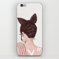 catwoman iPhone & iPod Skins featuring Catwoman by Chelsea Hantken