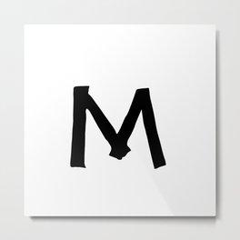 M Monogram (Hand 2) Metal Print