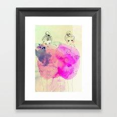 Brr its cold outside Framed Art Print