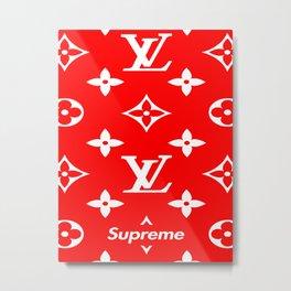 Supreme x lv Metal Print