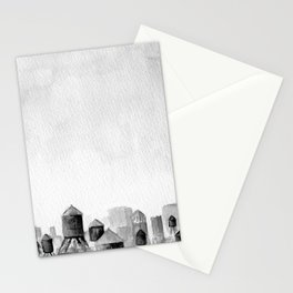 NY-Sea of Watertowers Stationery Cards