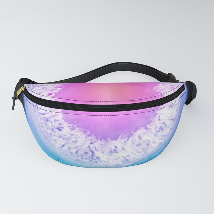 agate, quartz, crystal stone pink blue lilac lilac lilac Fanny Pack