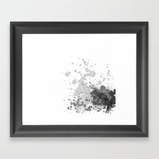 Passion Grey Framed Art Print
