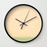sailing Wall Clocks featuring Sailing by Maite Pons