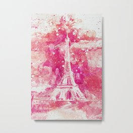 Artistic XLIV - Eiffel Tower Paris Metal Print