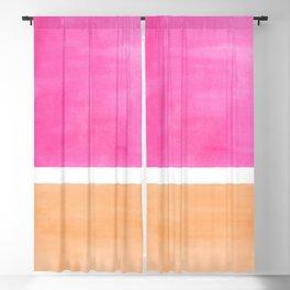 Colorful Bright Minimalist Rothko Pastel Pink Peach Midcentury Modern Art Vintage Pop Art Blackout Curtain