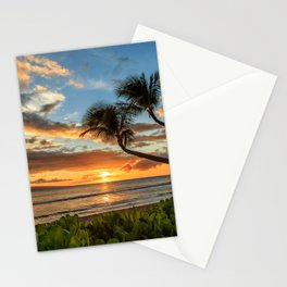 Sunset In Kaanapali Stationery Cards