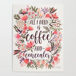 Coffee & Concealer – Vintage Palette Poster
