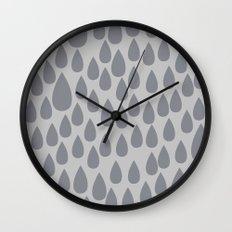 Grey drops Wall Clock