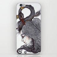 caitlin hackett iPhone & iPod Skins featuring Swan Song art print by Caitlin Hackett