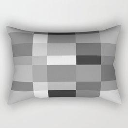 Grayscale Check Rectangular Pillow
