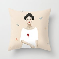 Madame B. Throw Pillow