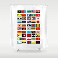 SH as flags Shower Curtain