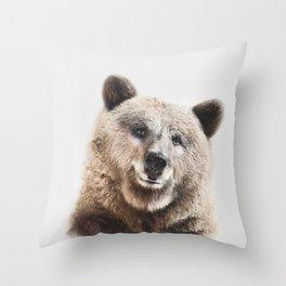 Brown Bear Print Throw Pillow
