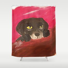 Jake, the Baby Labrador Shower Curtain