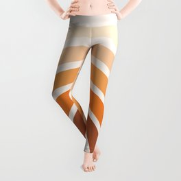 Boho bisque pink step up rainbow Leggings