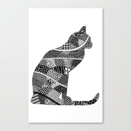 Sitting Cat Canvas Print