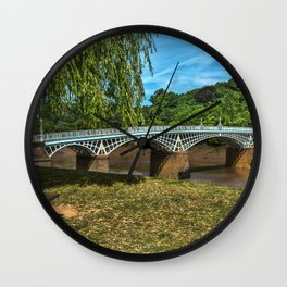 A Riverside Seat At Chepstow Wall Clock