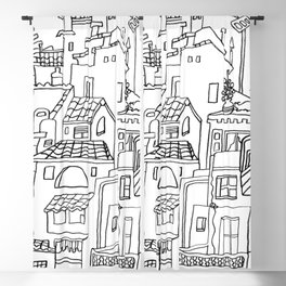 Benalmadena Village On The Coast of Sunshine Blackout Curtain