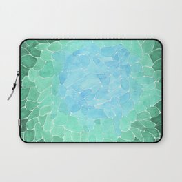 Abstract Sea Glass Laptop Sleeve
