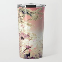 Pink Lavender Flowers Travel Mug
