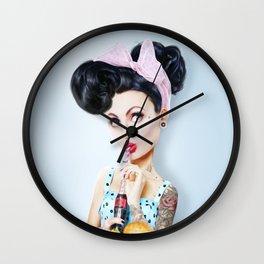 Pinup cool woman Wall Clock