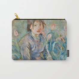 Berthe Morisot - Peasant Girl Among Tulips Carry-All Pouch