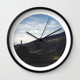 Iceland Landscape | Graphic Design | Picture in Circle Wall Clock