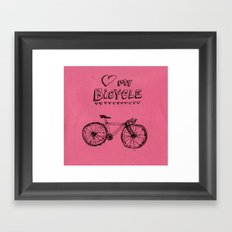 Love my Bicycle Framed Art Print