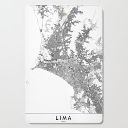 Lima White Map Cutting Board