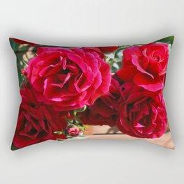 Roses Flowers Art Rectangular Pillow