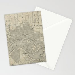 Vintage Map of Louisville KY (1870) Stationery Cards