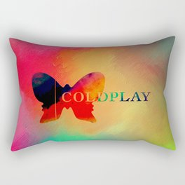 Colourful Butterfly Cold Play Rectangular Pillow