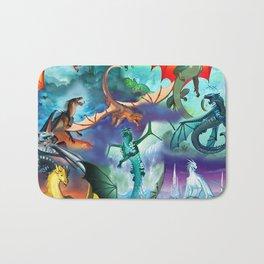 Wings of fire all dragon bg Bath Mat