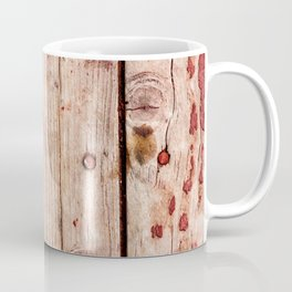 Used Rough Wooden Planks Coffee Mug