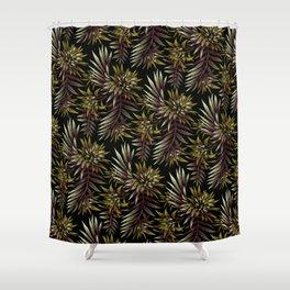 Aechmea Fasciata - Dark Green / Brown Shower Curtain