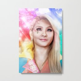 Cherry blossoms girl Metal Print